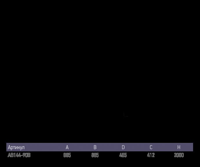 Душевой уголок Alex Baitler AB144-B90