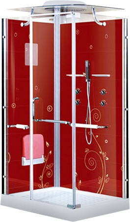 Душевая кабина LanMeng 858L Red