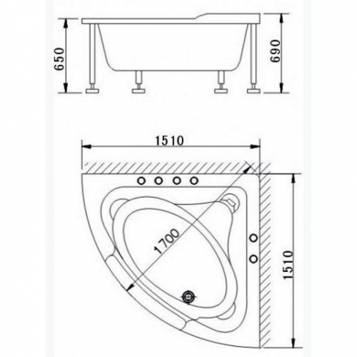 Гидромассажная ванна Appollo A-2121W