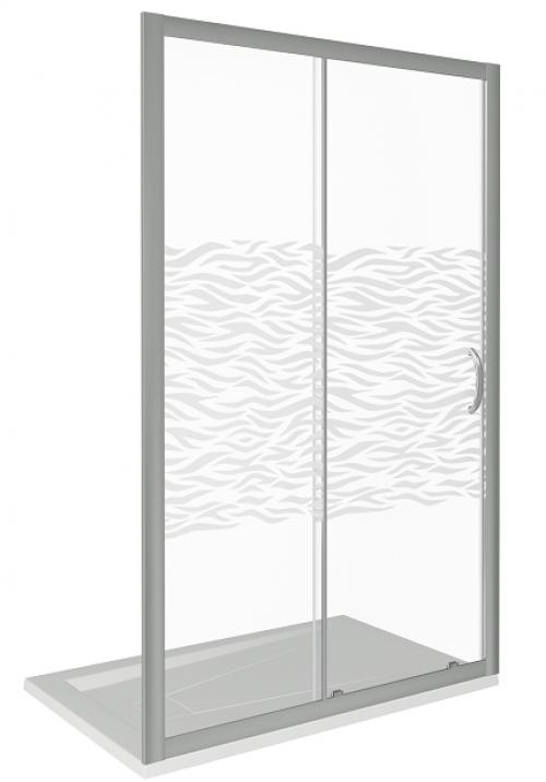 Дверь в нишу GoodDoor Infinity WTW-120-W-CH