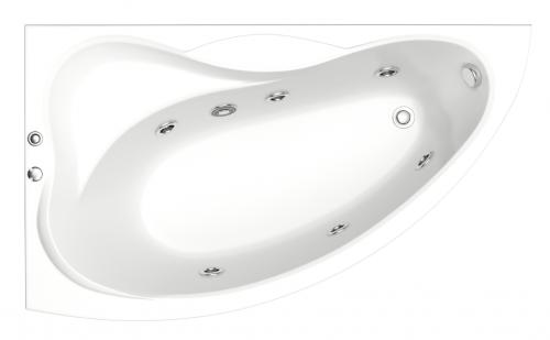 Акриловая ванна Bas Вектра левая