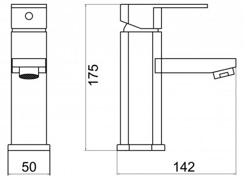 Смеситель на раковину BelBagno Aurora AUR-LVM-CRM